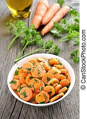 vegetal, zanahoria, ensalada