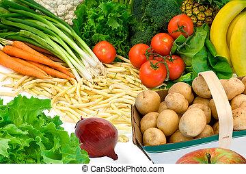 vegetales, algunos, fruits