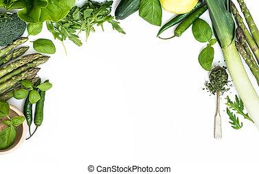 vegetales, blanco