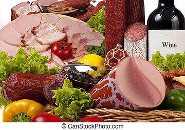 vegetales, carne, composición