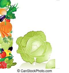 vegetales, col