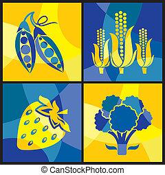 vegetales, color, cruz