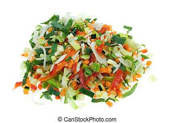 vegetales, corte
