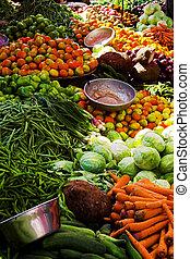 vegetales, exhibición