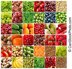 vegetales, fondos, fruits