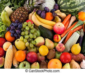 vegetales, fruits