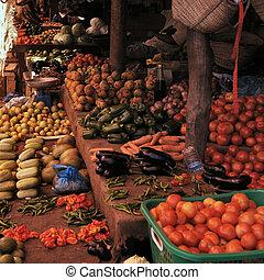 vegetales, fruta, mercado