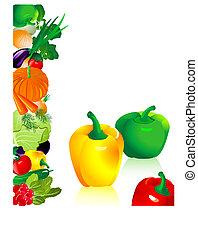 vegetales, pimienta