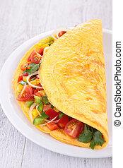 vegetales, tortilla de huevos