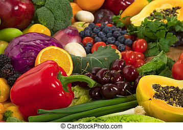 vegetales, y, fruits