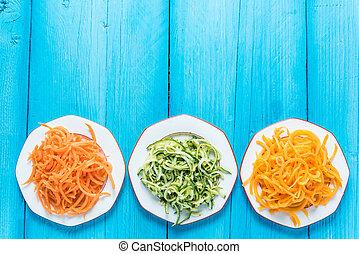 Vegetarian and healthy spaghetti