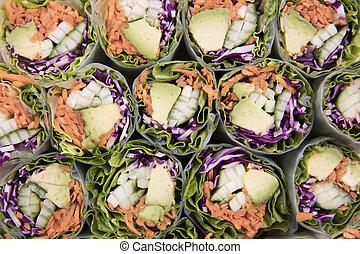 Vegetarian Avocado Spring Roll