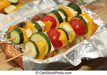 vegetarian barbecue skewers