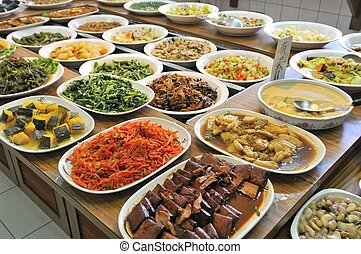 Vegetarian buffet meal - Healthy and nutritious Oriental ...
