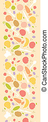 Vegetarian cooking vertical seamless pattern background border