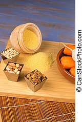 Vegetarian couscous ingredients