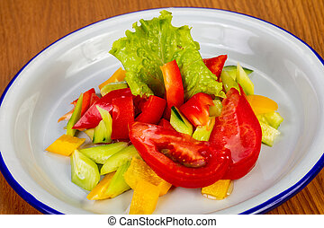 Vegetable tomato salad