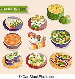 Vegetarian dishes set