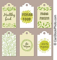 Vegetarian food badges