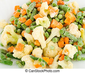 vegetarian food ,fresh frozen vegetables background