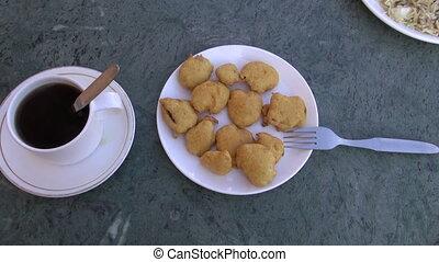vegetarian food in India - vegetarian food in  plate,India