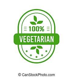 Vegetarian food label design