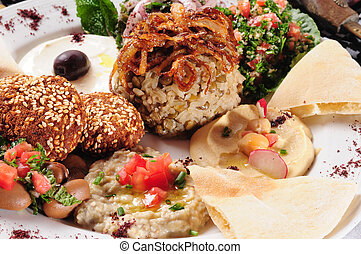 Vegetarian food - Mixed plate of vegetarian food