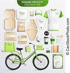 Vegetarian Food Packaging Template Set