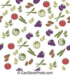 Vegetarian food seamless pattern