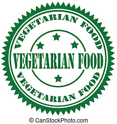 Vegetarian Food-stamp - Rubber stamp with text Vegetarian ...