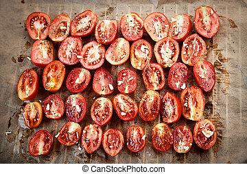 Sun dried tomatoes - Vegetarian food. Sun dried tomatoes...