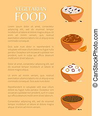 Vegetarian Food, Various Porridges Collection - Vegetarian...