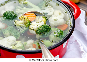 Vegetarian food - vegetable soup