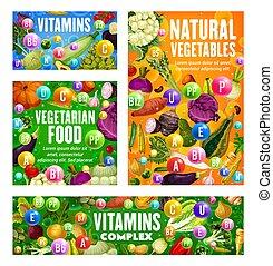 Vegetarian food vitamins in vegetables