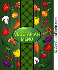 vegetarian green menu. organic food