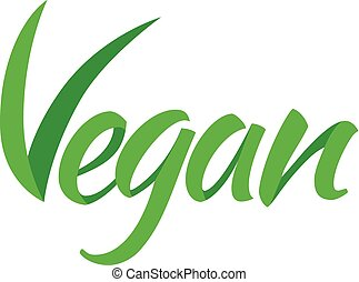 Vegetarian green text. - Veggie vegan or organic and healthy...