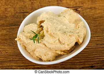 Humus - Vegetarian Humus with sesame seeds and thyme leaves