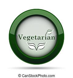 Vegetarian icon. Internet button on white background.