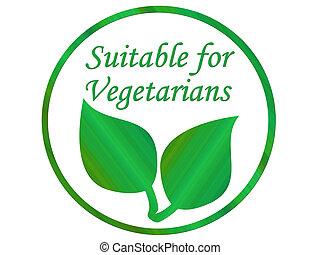 Vegetarian leaf symbol