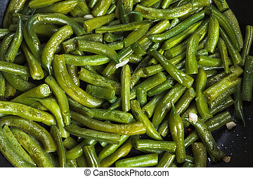 Vegetarian lunch - fried beans