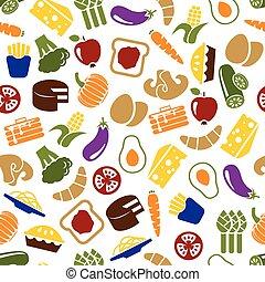 vegetarian meals seamless pattern