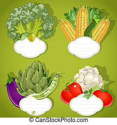 Vegetarian menu - banners with the field for your text
