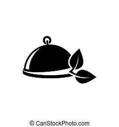 Vegetarian menu emblem