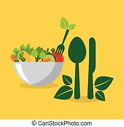 vegetarian menu healthy food vector illustration design