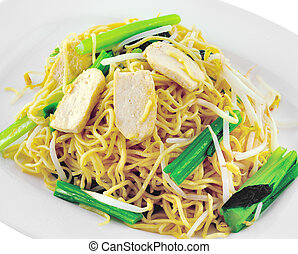 vegetarian noodles cooked with healthy vegetables