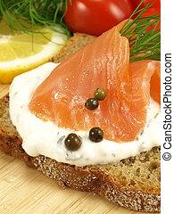 Vegetarian nutritious breakfast, closeup