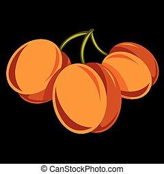 Vegetarian organic food simple illustration, three vector...