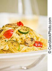 vegetarian pasta tagliatelle
