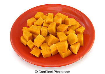 Vegetarian plate - pumpkin bites - Low calories vegetarian...