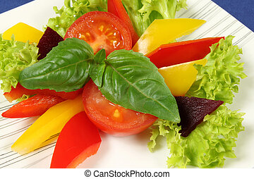 Vegetarian salad - Fresh, colorful vegetarian salad with...